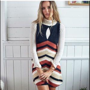 SomeDays Lovin Crochet Chevron cotton tank dress